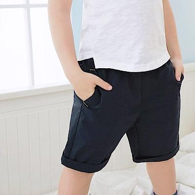 撞色車線設計鬆緊休閒短褲‧童2色-OB大尺碼