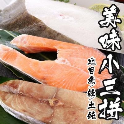 海鮮王 鮭比魠超值6件組(鮭100GX2+扁鱈110GX2+魠320GX2)
