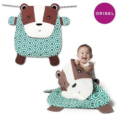 【ORIBEL奧麗貝】Peripop萌趣多功能萬用被/ 寶寶毯/ 收納袋-小灰熊