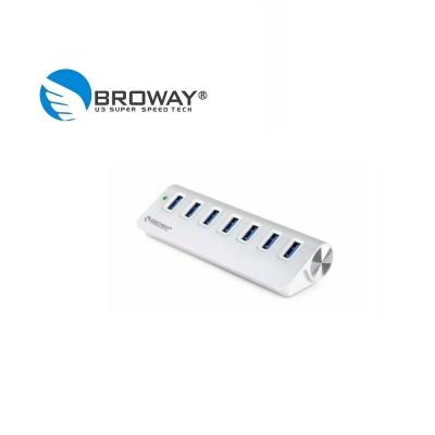 BROWAY USB 3.0 7埠 HUB集線器 鋁合金 晶鑽銀