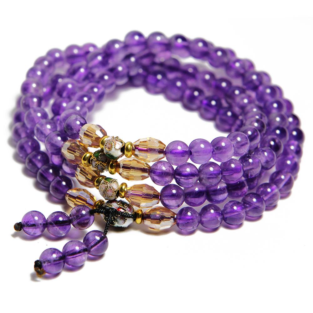 A1寶石 雙倍吸金-頂級紫水晶108念珠 -名師指定款(含開光) @ Y!購物