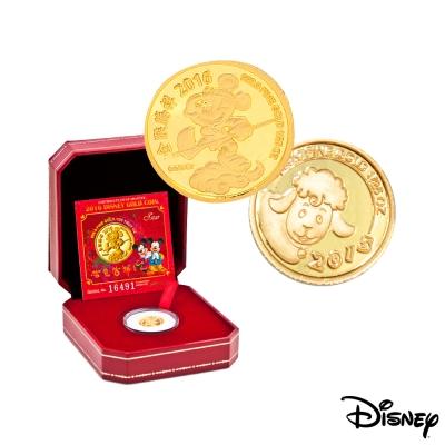 Disney迪士尼金飾 羊+猴紀念金幣 <b>1</b>/25盎司*<b>2</b>