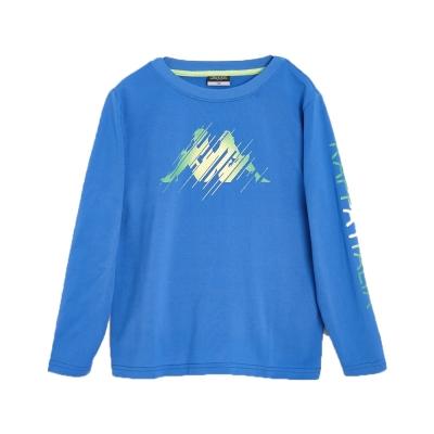 KAPPA義大利小朋友吸濕排汗速乾BEST DRY彩色長袖衫~義大利藍