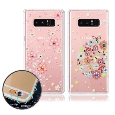 PGS Samsung Galaxy Note 8 奧地利水晶彩繪空壓手機殼