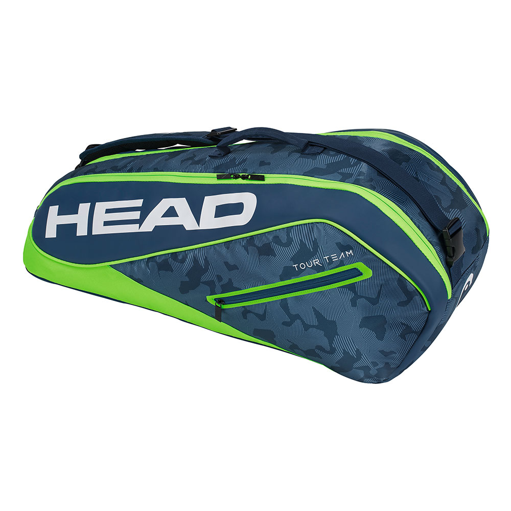 HEAD Tour Team系列 6支裝球拍袋-青綠 283128