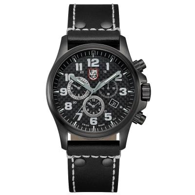 LUMINOX ATACAMA 戰場系列碳纖維紋計時腕錶-槍黑/45mm