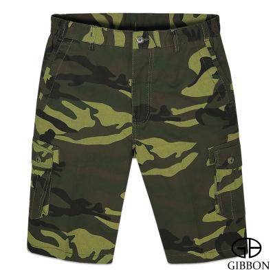 GIBBON 叢林迷彩彈力短褲‧黃綠M~3L