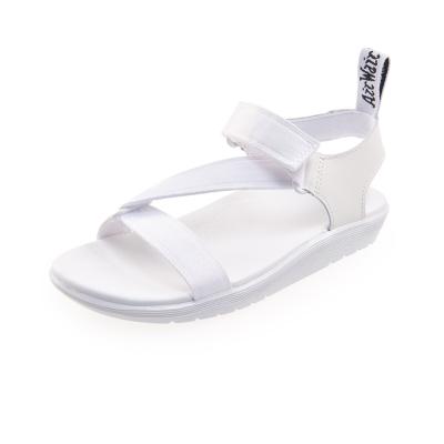 (女) Dr.Martens BALFOUR-Z字織帶輕量化涼鞋-白色