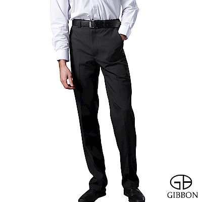 GIBBON 簡約防寒刷毛平口西裝褲‧黑色30-42