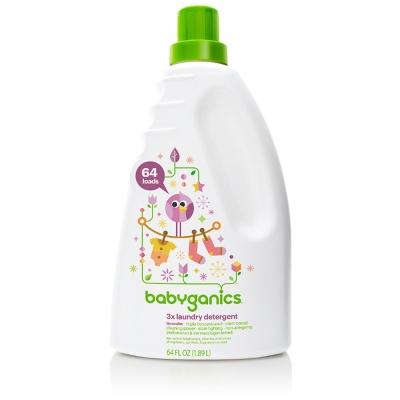 BabyGanics綠潔寶貝嬰兒3倍濃縮洗衣精-薰衣草60 OZ