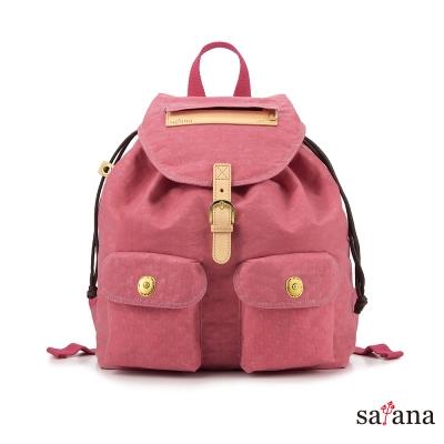 satana - 小休閒束口後背包 - 歡喜玫瑰