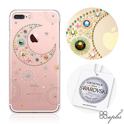 apbs iPhone8/7 Plus 5.5吋施華洛世奇彩鑽手機殼-星月透明