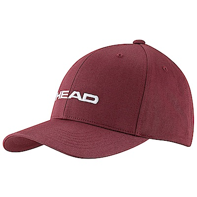 HEAD奧地利 素面可調式 運動帽/棒球帽/遮陽帽-酒紅(2入) 287292