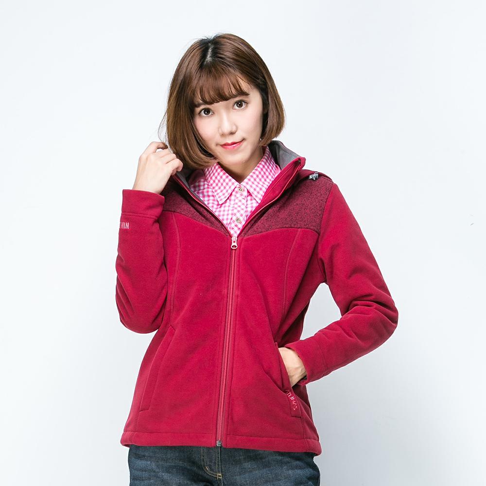 歐都納WINDSTOPPER女防風保暖外套 A-G1560W 暗紅