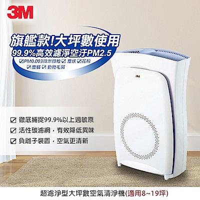 3M 空氣清淨機超濾淨型大坪數專用 (適用8~19坪) N95口罩濾淨原理