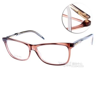 GUCCI眼鏡 立體轉節鏡腳系列/透棕裸白#GG3643 0XG