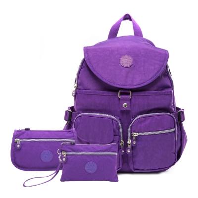 COUNT DUCK 美系悠活輕量後背包CD-006(超值三件組)神秘紫