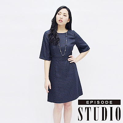 EPISODE Studio -都會時尚幾何收腰修身洋裝