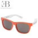 Elegant Baby 橘白款抗UV撞色太陽眼鏡