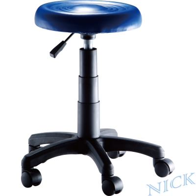 NICK 圓型吧檯椅(活動輪) / 三色