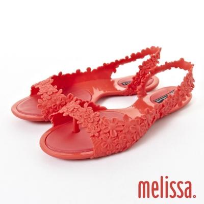 MELISSA 繽紛花漾涼鞋-紅色