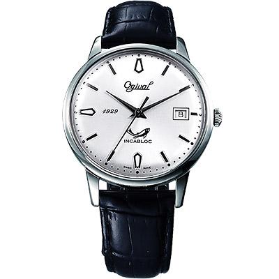 Ogival 銀魂經典手上鍊機械腕錶(白)