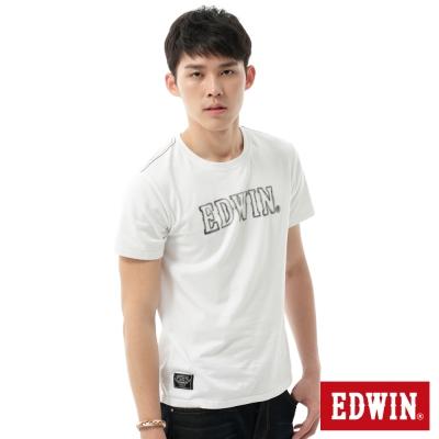 EDWIN-T恤-3M反光LOGOT恤-男-白色