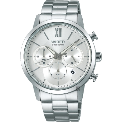 WIRED 東京時尚三眼計時手錶(AY8039X1)-銀/40mm
