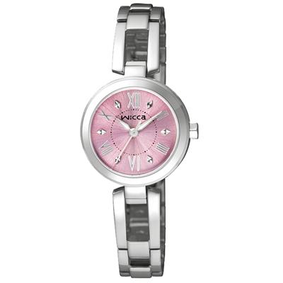 CITIZEN 傾訴愛戀氣氛時尚腕錶(BG3-911-91)-櫻粉/24mm