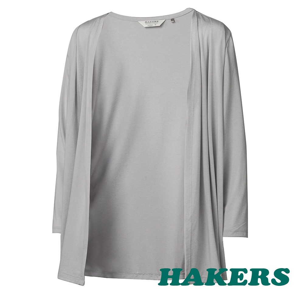 【HAKERS 哈克士】女-涼感抗菌小罩衫-灰色 product image 1