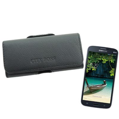 City boss Samsung i9200/ i9152真皮橫式腰掛保護皮套