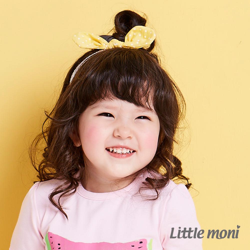 Little moni 俏麗蝴蝶結造型髮帶 黃色