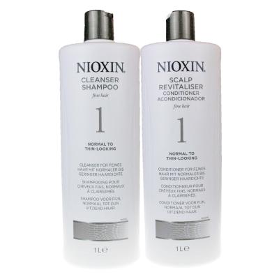 NIOXIN 耐奧森(儷康絲) 1號組合潔髮乳+甦活乳1000ML 公司貨