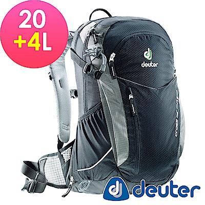 【ATUNAS 歐都納】德國DEUTER自行車網架包/運動登山背包32094黑灰