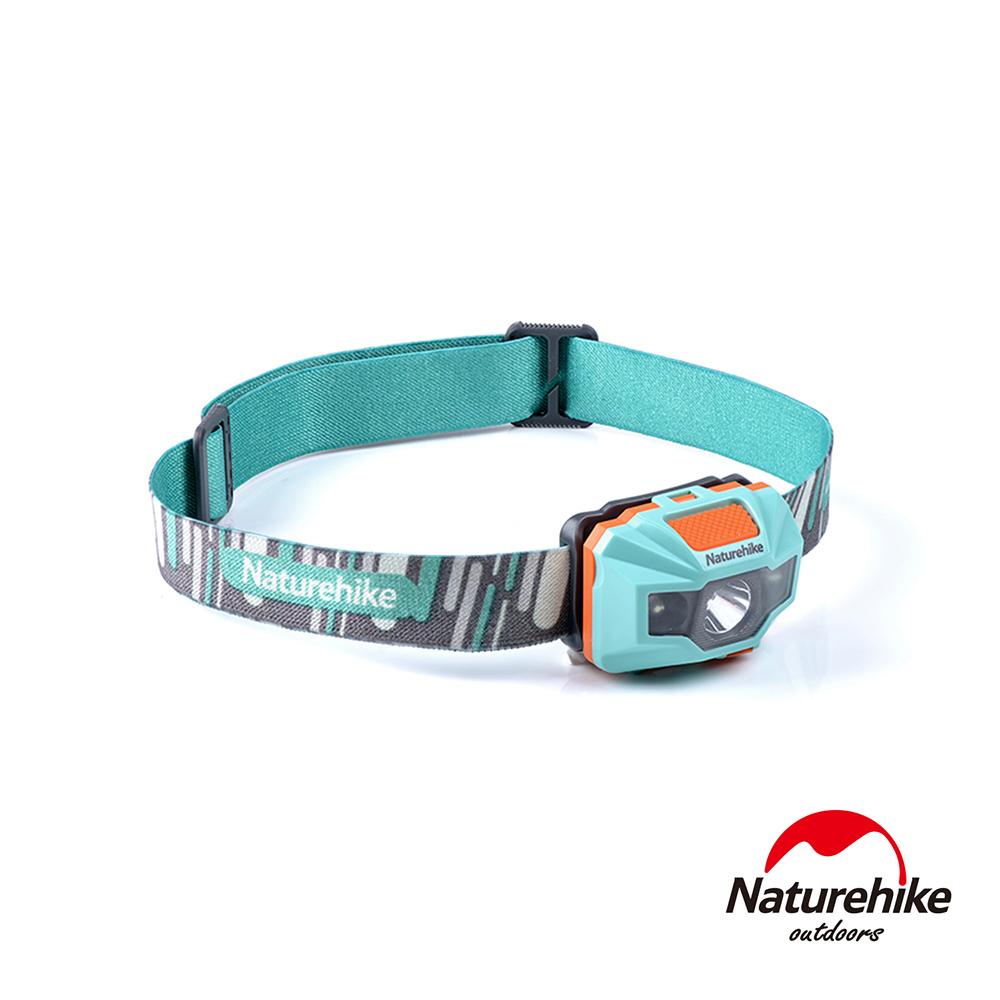 Naturehike 輕便防水USB充電四段式LED頭燈 藍橙-急