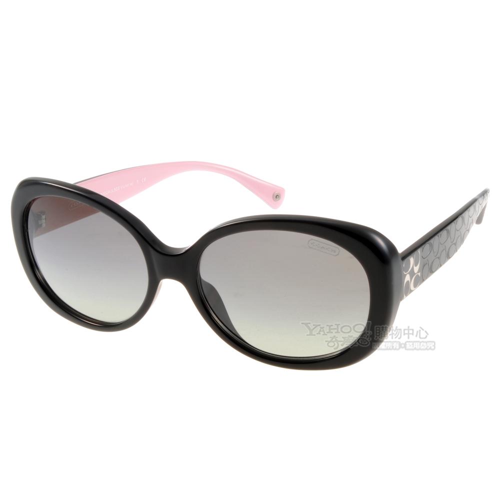 COACH太陽眼鏡雙C撞色款黑-粉色COS8002A 505311