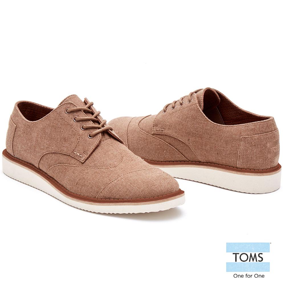 TOMS英國學院牛津鞋-男款棕