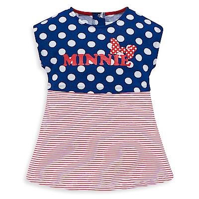 Disney 米妮系列圓點條紋假二件式上衣 (共2色)