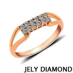 JELY 幸福滋味0.20克拉天然鑽石戒指-玫瑰金