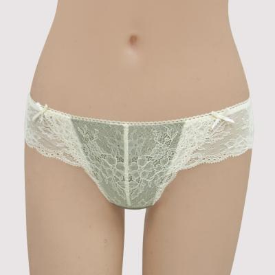 瑪登瑪朵-我挺妳  低腰蕾絲丁字內褲(灰銅綠)