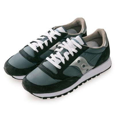 (男) 美國 SAUCONY 經典時尚休閒輕量慢跑球鞋-藍銀