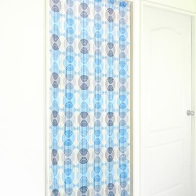 布安於室-幾合圖形遮光風水簾-藍色