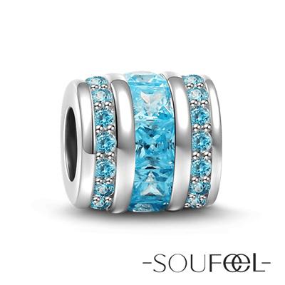 SOUFEEL索菲爾 925純銀珠飾 海底藍 串珠