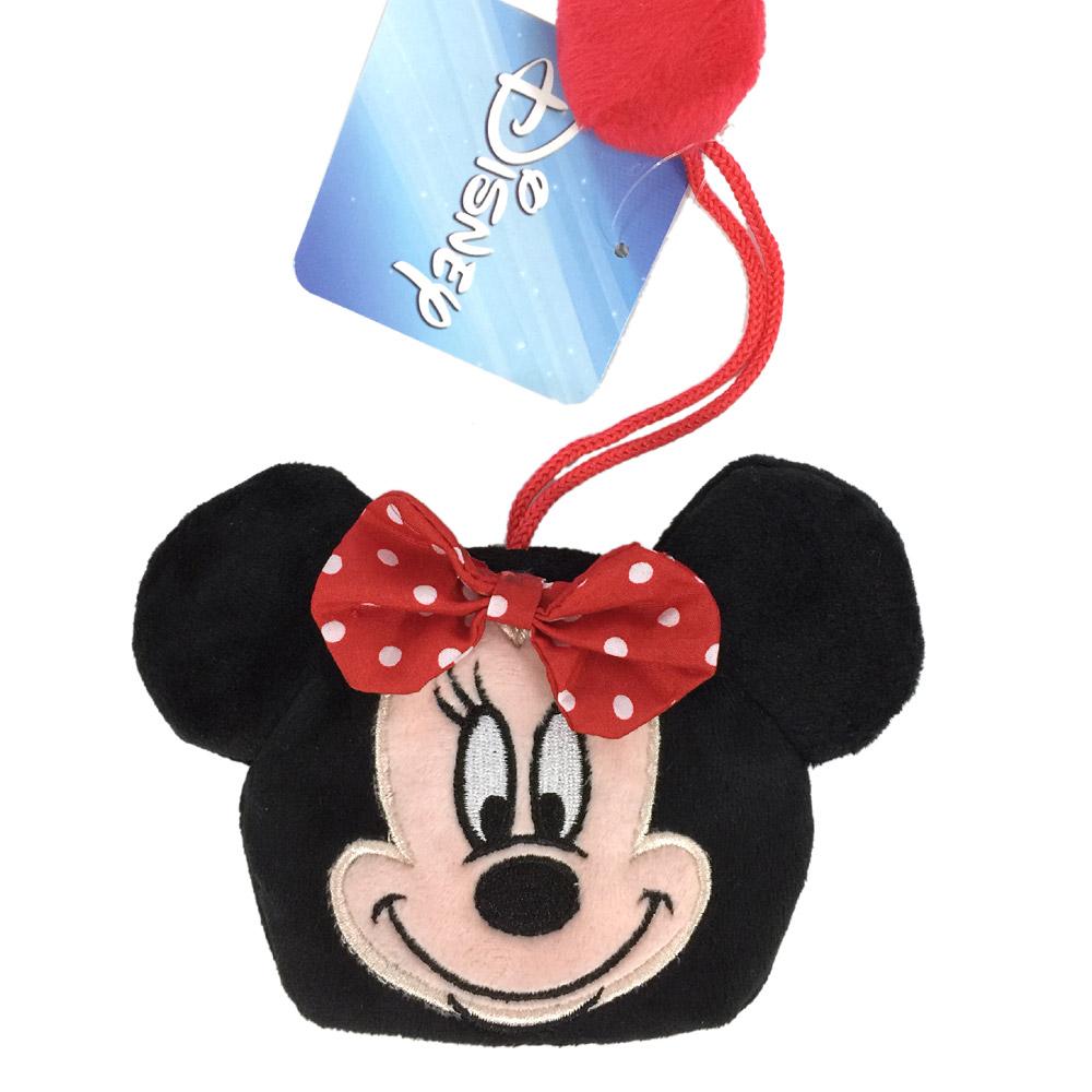 迪士尼米妮娃娃鑰匙包鑰匙圈掛飾