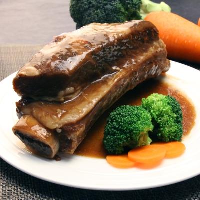 海鮮王 特選帶骨台塑牛小排(解凍即食)1包組520G/包 醬 150G 肉370G(任選)