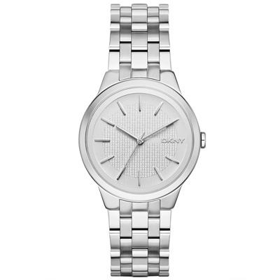 DKNY 風華紐約韻味時尚腕錶-銀/36mm