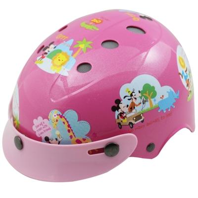花米奇自行車兒童可調整式安全帽-粉紅色-快