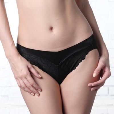 LADY 深線魅力系列 機能調整型 中低腰三角褲(魔幻黑)