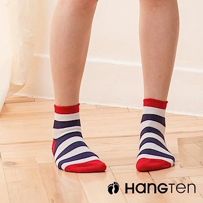 HANG TEN 寬條紋二分之一女襪2雙入組_紅藍(HT-022-49)