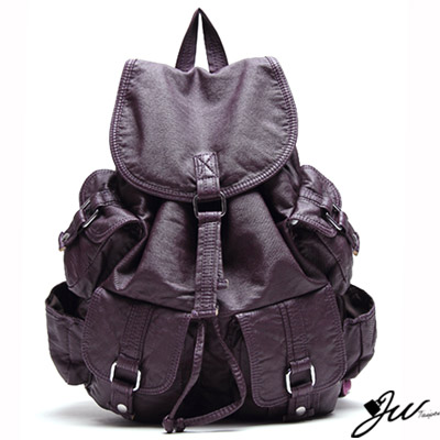 J-W-Mina原宿系甜美休閒後背包-共9色-羅蘭紫